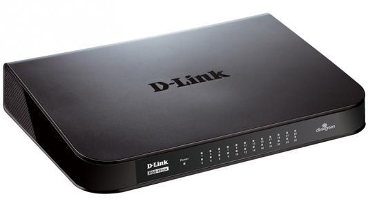 Коммутатор D-LINK DGS-1024A/B1A неуправляемый 24 порта 10/100/1000Mbps