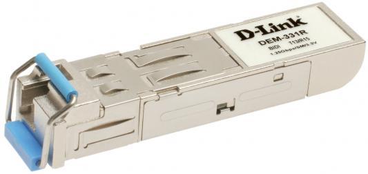 Трансивер сетевой D-Link DEM-331R/20KM/B2A 1 порт mini-GBIC 1000Base-LX