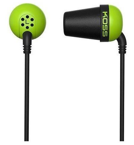 Наушники Koss The Plug зеленый наушники koss spark plug k black
