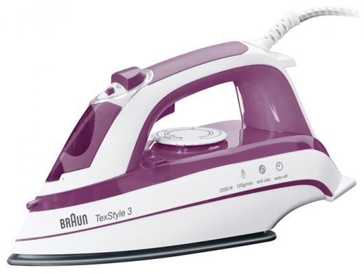 цена Утюг Braun TS365A 2200Вт белый фиолетовый онлайн в 2017 году
