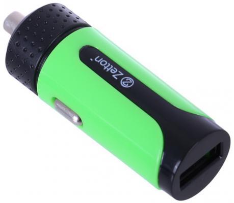 Автомобильное зарядное устройство Zetton ZTLSCC2A1UBG USB 2.1A зеленый
