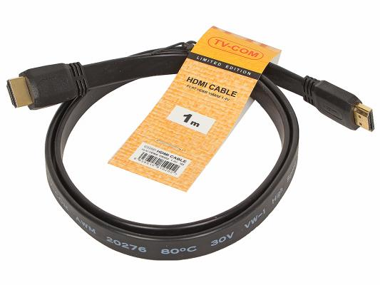 Кабель HDMI 1.0м VCOM Telecom плоский CG200F-1M