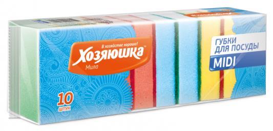 Губка для посуды Хозяюшка Мила MIDI 01003 10шт