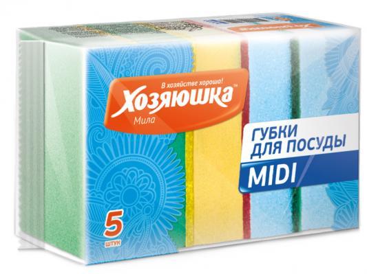 Губка для посуды Хозяюшка Мила MIDI 01004
