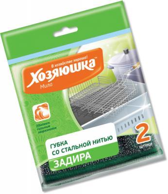 Губка для посуды Хозяюшка Мила Задира 01019 хозяюшка мила губка для тефлоновой посуды пчелка в вакуумной упаковке 2 шт 100шт 01020 100