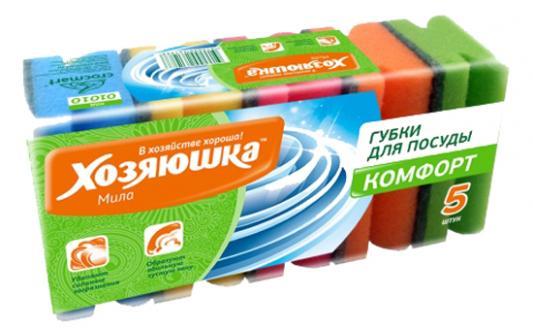 Губка для посуды Хозяюшка Мила Комфорт 01010 5шт