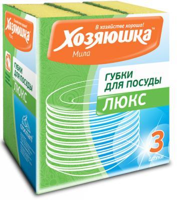 Губка для посуды Хозяюшка Мила Люкс 01011