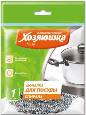 Мочалка для посуды спираль Хозяюшка Мила 02010 тряпка для мытья пола хозяюшка мила 06012 25