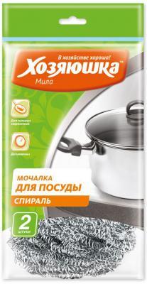 Мочалка для посуды спираль Хозяюшка Мила 02011