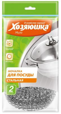 Мочалка для посуды Хозяюшка Мила 02013 сушилка для посуды хозяюшка альтернатива м1768