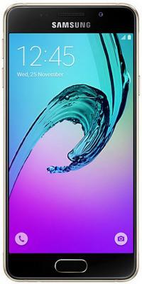 "Смартфон Samsung Galaxy A3 Duos 2016 золотистый 4.7"" 16 Гб NFC LTE Wi-Fi GPS SM-A310FZDDSER"