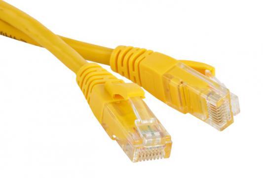 Патч-корд UTP 5E категории 0.3м Hyperline PC-LPM-UTP-RJ45-RJ45-C5e-0.3M-LSZH-YL желтый