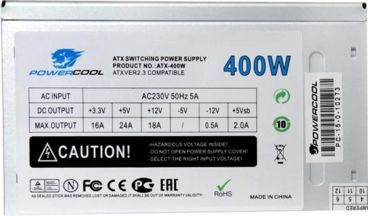 БП ATX 400 Вт PowerCool PC400-80-O