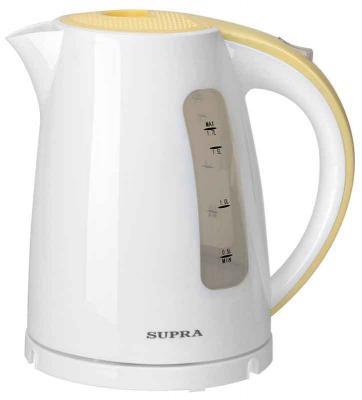 Чайник Supra KES-1726 2200 Вт белый жёлтый 1.7 л пластик