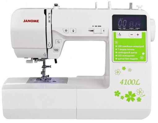 Швейная машина Janome 4100L белый цена и фото