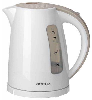 Чайник Supra KES-1726 2200 Вт белый бежевый 1.7 л пластик supra kes 2301 grey