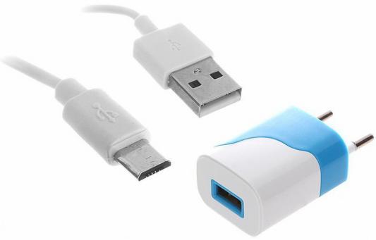 Сетевое зарядное устройство Continent ZN10-194NV USB 1A синий