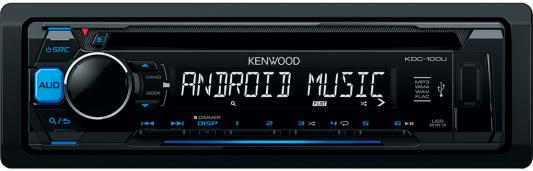 Автомагнитола Kenwood KDC-100UB USB MP3 CD FM RDS 1DIN 4х50Вт черный