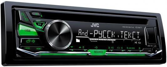 Автомагнитола JVC KD-R477 USB MP3 CD FM 1DIN 4x50Вт черный