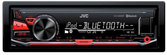 Автомагнитола JVC KD-X330BT USB MP3 FM RDS 1DIN 4x50Вт черный