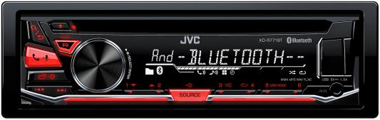 Автомагнитола JVC KD-R771BT USB MP3 CD FM RDS 1DIN 4x50Вт черный