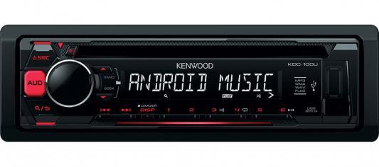 Автомагнитола Kenwood KDC-100UR USB MP3 CD FM RDS 1DIN 4х50Вт черный автомагнитола kenwood kmm 103gy usb mp3 fm 1din 4х50вт черный