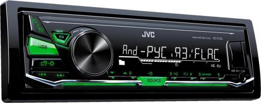 Автомагнитола JVC KD-X130 USB MP3 FM RDS 1DIN 4x50Вт черный
