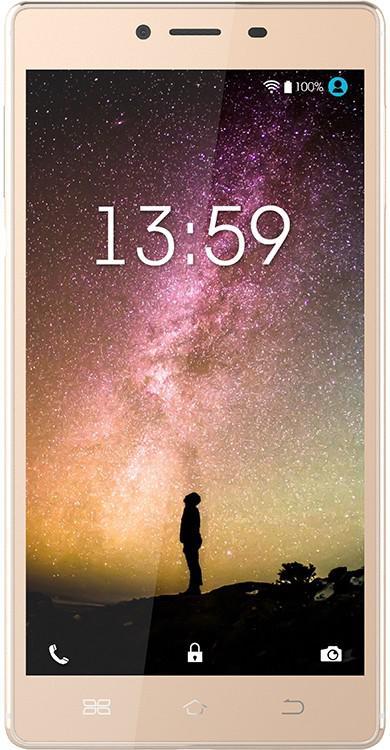 "Смартфон KENEKSI Helios золотистый 5.5"" 16 Гб LTE Wi-Fi GPS"