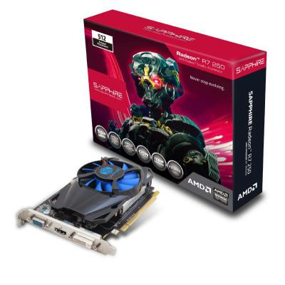 Видеокарта 2048Mb Sapphire R7 250 PCI-E GDDR5 11215-20-20G Retail