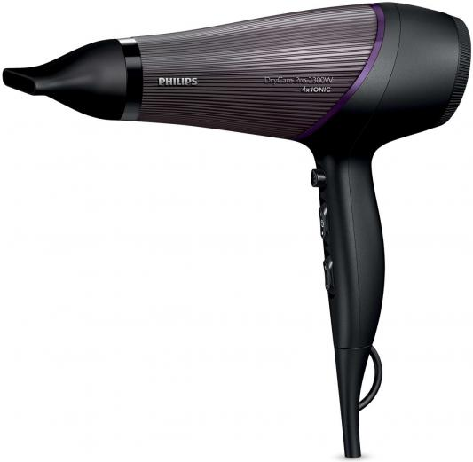 Фен Philips BHD 177/00 чёрный фиолетовый фен philips bhd 282 00 2300вт фиолетовый
