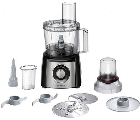 Кухонный комбайн Bosch MCM3401M 800Вт черно-серебристый