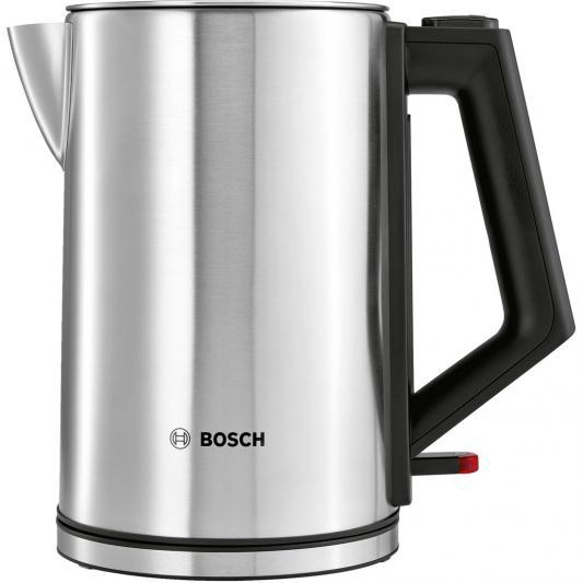 Чайник Bosch TWK7101 2200 Вт серебристый 1.7 л металл цена и фото