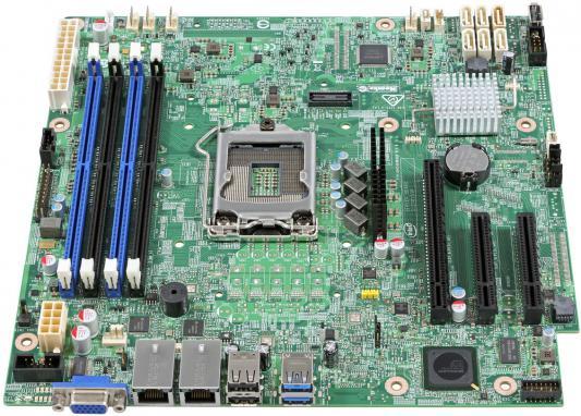 Мат. плата для ПК Intel DBS1200SPS Socket 1151 C232 4xDDR4 1xPCI-E 4x 2xPCI-E 8x 6xSATAIII mATX Retail
