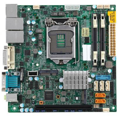 Мат. плата для ПК Supermicro MBD-X11SSV-Q-O Socket 1151 Q170 2xDDR4 1xPCI-E 16x 5xSATAIII mini-ITX корпус для пк jonsbo u1 u2 u3 umx1 umx2 itx usb3 0