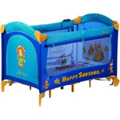Манеж-кровать Jetem C1 (happy indians blue)