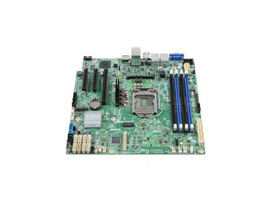 Мат. плата для ПК Intel DBS1200SPL Socket 1155 C204 4xDDR3 1xPCI-E 16x 1xPCI 3xPCI-E 8x 4xSATA II 2xSATAIII ATX