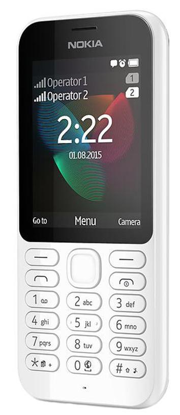 """Мобильный телефон NOKIA 222 Dual Sim белый 2.4"""""""