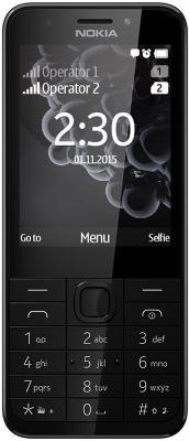 Мобильный телефон NOKIA 230 Dual Sim черный серый (A00026971) мобильный телефон nokia 230 dual sim белый a00026972