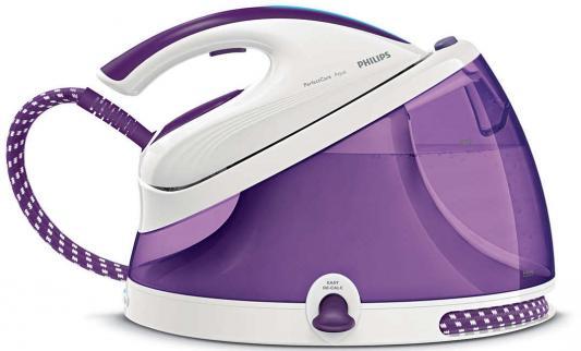 цена Паровая станция Philips GC8625/30 2400Вт белый фиолетовый