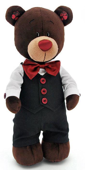Мягкая игрушка медведь Orange Choco жених текстиль коричневый 35 см С5042/35