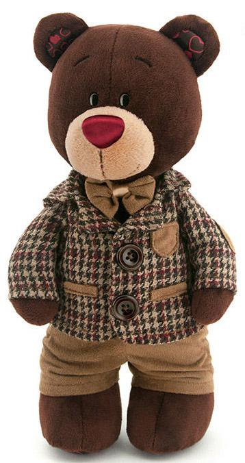 Мягкая игрушка медведь Orange Choco в клетчатом пиджаке текстиль коричневый 30 см С5047/30