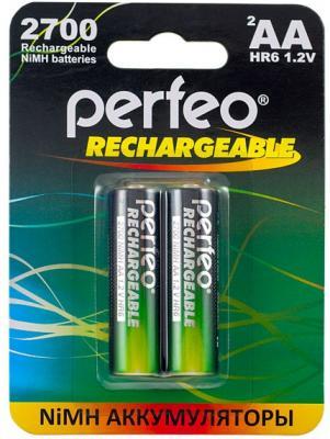 Аккумуляторы Perfeo AA2700/2BL 2700 mAh AA 2 шт аккумуляторы 1800 mah perfeo aa1800mah 2bl aa 2 шт