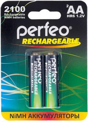 Аккумуляторы Perfeo AA2100mAh/2BL 2100 mAh AA 2 шт аккумуляторы perfeo aa2500 2bl 2500 mah aa 2 шт