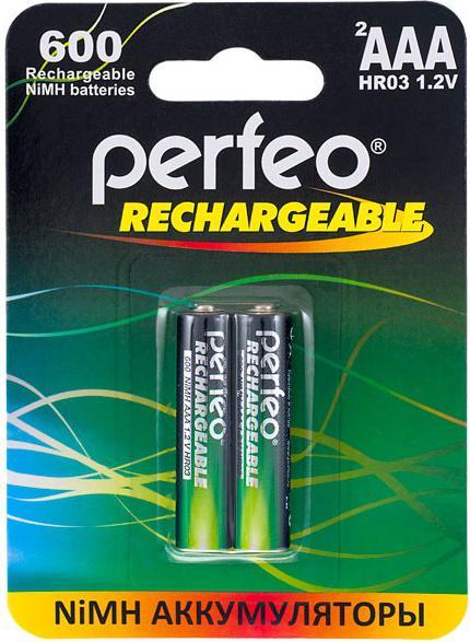 Аккумуляторы Perfeo AAA600/2BL 600 mAh AAA 2 шт аккумуляторы perfeo aa2100mah 2bl 2100 mah aa 2 шт