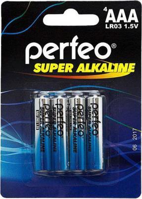 Батарейки Perfeo LR03/4BL Super Alkaline AAA 4 шт