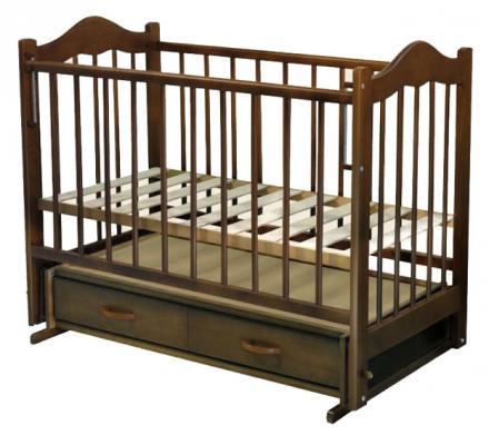 Кроватка с маятником Ведрус Кира 4 (вишня)