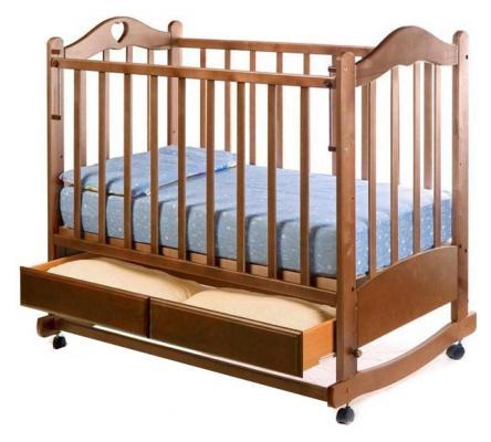 Кроватка-качалка Ведрус Лана 2 (орех)
