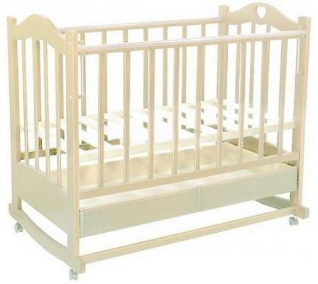 Кроватка-качалка Ведрус Лана 2 (слоновая кость)