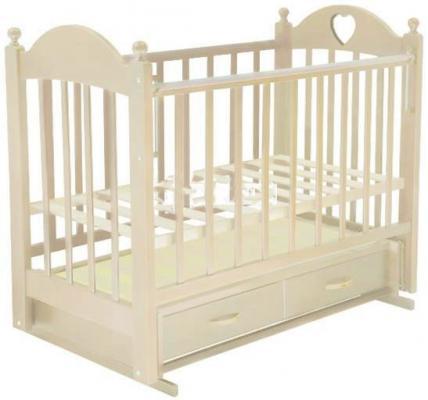 Кроватка с маятником Ведрус Лана 3 (слоновая кость) обычная кроватка ведрусс лана 2 сердечко орех