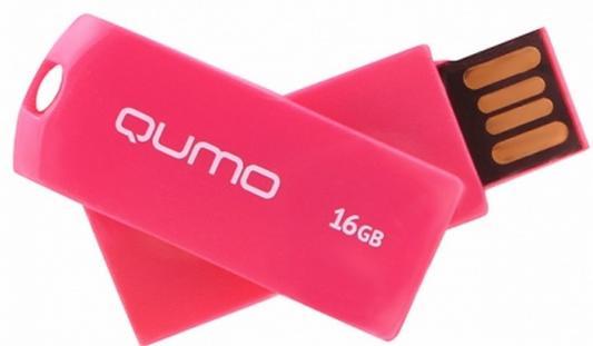Флешка USB 16Gb QUMO 16GB Twist Cerise QM16GUD-TW-Cerise цена и фото